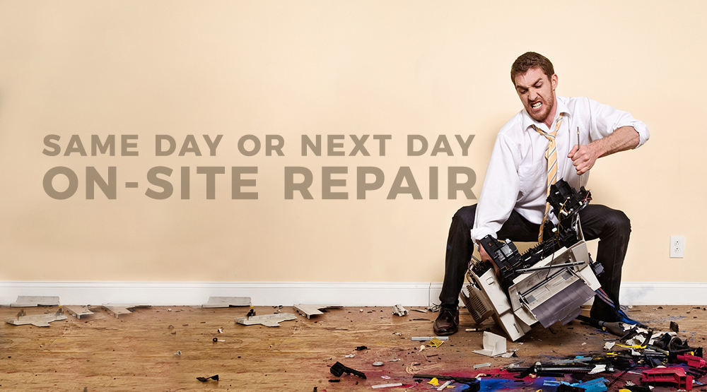 Same day or next day on-site repair for your SE Wisconsin office printers