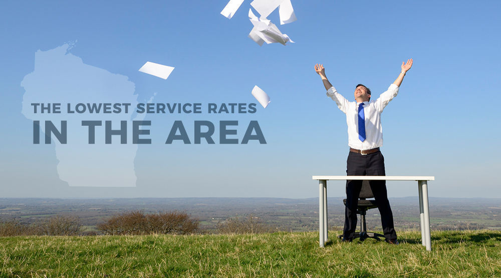 The lowest printer service rates in Wisconsin