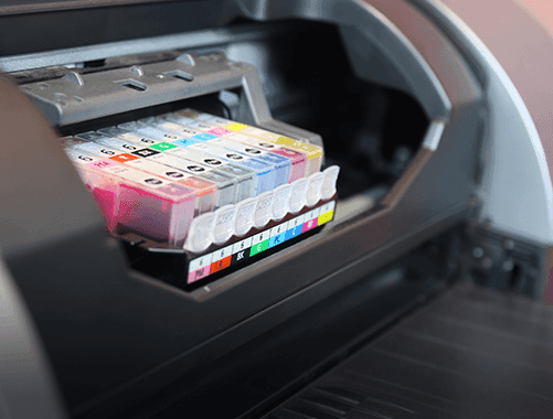 Multi-color inkjet printers for high quality office documents